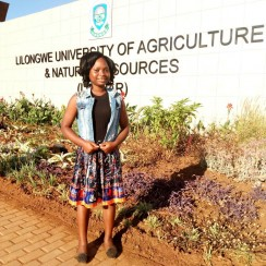 ZIKOMO student Gertrude studying for a  bachelor's degree  of science in human science and community services.